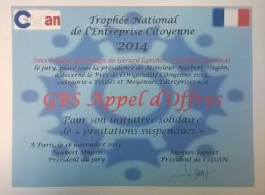 TNEC 2014 GBS Appel d'offres